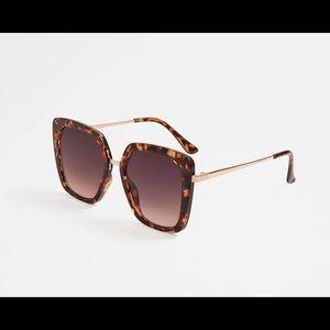 Aldo Frerralian Square Plastic Frame Sunglasses
